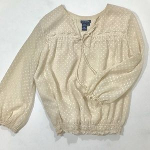 Max Edition Womans Neutral  Top, Blouse. Large